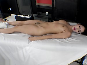 First Time Squirting! Blue Hair Babe Goes Crazy Be fitting of Tantric Massage Fingers