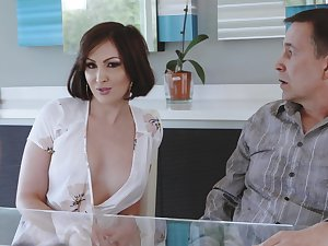Cheating tie the knot Yasmin Scott drops on her knees for a substantial dick