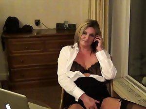 Secretary Sam in a Motor hotel Room