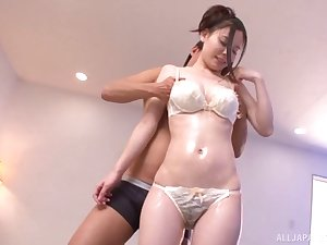 Oiled slut An Anno fucked from behind hard by an crude gentleman