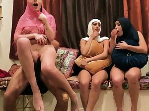 Milf fit together partner's sons Hot arab gals try foursome