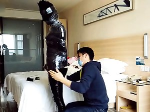 Asian chick acquire nasty enjoying some hot bdsm relaxation