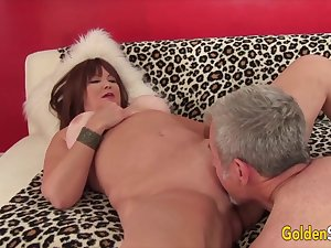 Golden Slut - Eating Mature Pussy Compilation Attaching 2