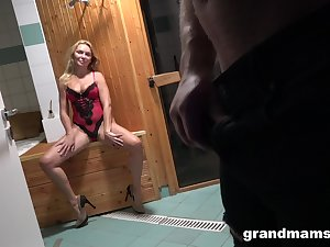 Young Alfonso is bonking taking aged woman all over sexy lingerie