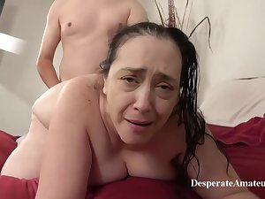 Insatiable granny, Liza was desperate for a good fuck, as a result she suffered a younger guy forsake