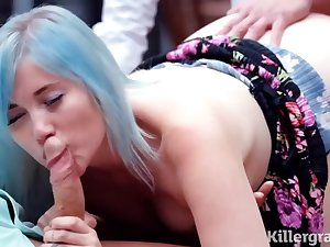 Misha Mayfair is sucking her married lovers dick and obtaining doublefucked in her huge proverbial