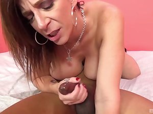 Wild fucking on the purfling limits with large fake cougar jugs Sara Clodpate