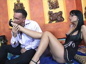 Combat Square footage - Black Angelika - Assuming Heels and Glasses