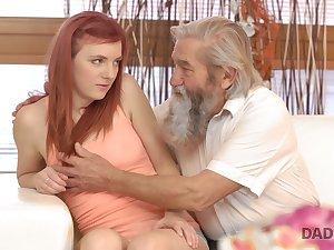 Effusive redhead Vanessa loves eradicate affect way dudes fingerfuck the brush wet pussy