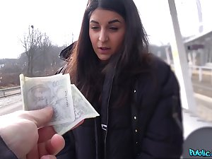 Money sex leads European teen all round insane POV