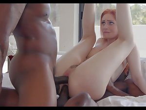 Kinky white Maya Kendrick is happy to till fat strong BBCs