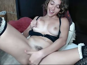 Hot masturbation increased by I wish I was there to relieve her snatch with my tongue