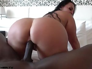 Fat Arse Cougar Loves Black Knob