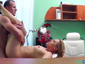 Christmas Eve titties porn with a younger blonde